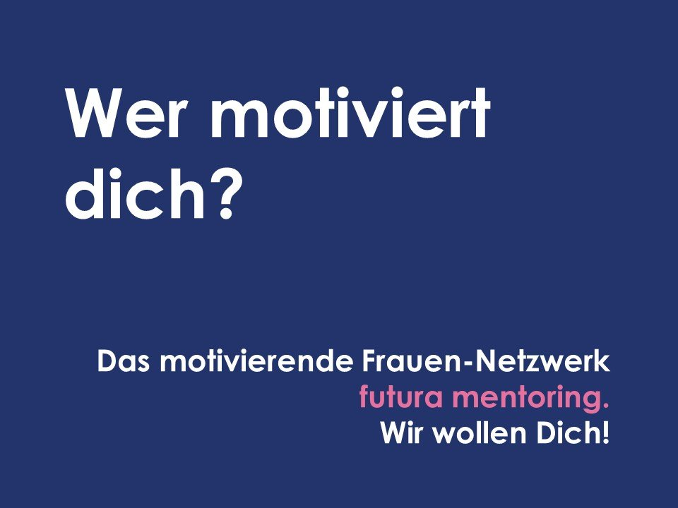 Postkarte Motiv Motivation Netzwerk Futura Mentoring